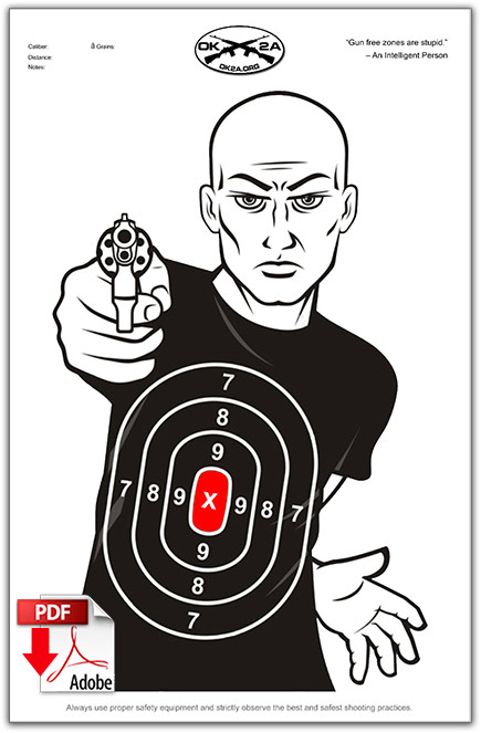 graphic regarding Printable Silhouette Shooting Targets identified as Printable Taking pictures Aims Oklahoma 2nd Modification Affiliation