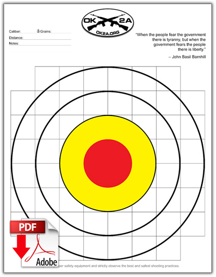 graphic regarding Printable Nra Pistol Targets identify Printable Taking pictures Ambitions Oklahoma 2nd Modification Affiliation