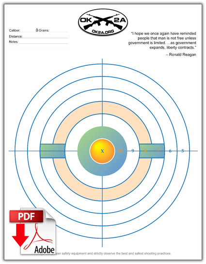 picture relating to Printable Silhouette Shooting Targets referred to as Printable Capturing Goals Oklahoma 2nd Modification Affiliation