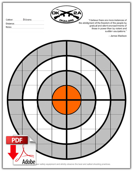 Printable Shooting Targets Oklahoma 2nd Amendment Association