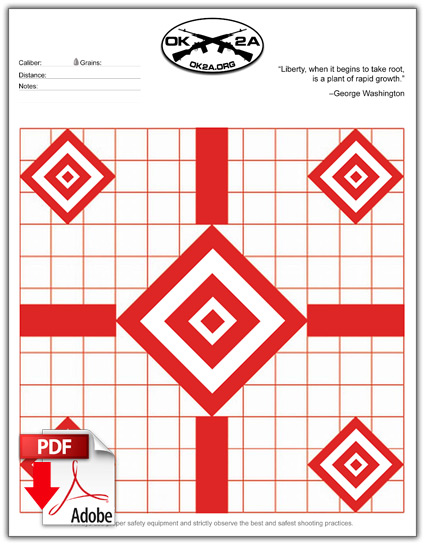 photo regarding Free Printable Turkey Shoot Targets identified as Printable Taking pictures Objectives Oklahoma 2nd Modification Affiliation