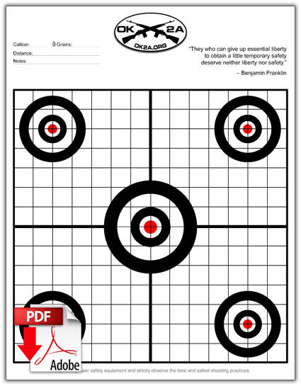 graphic about Printable Silhouette Shooting Targets titled Printable Capturing Plans Oklahoma 2nd Modification Affiliation