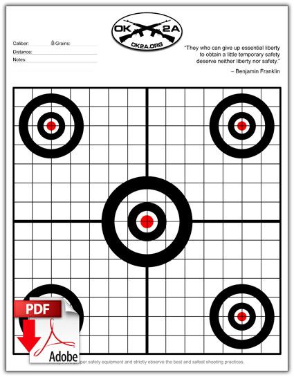 Printable Shooting Targets Oklahoma 2nd Amendment Association