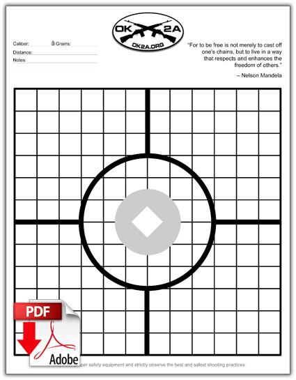 picture regarding Silhouette Targets Printable named Printable Taking pictures Aims Oklahoma 2nd Modification Affiliation