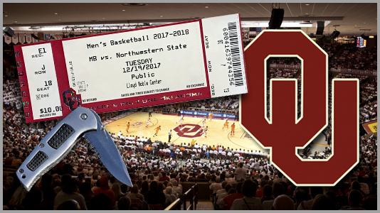 Exercising 2nd Amendment Rights at OU Basketball Game