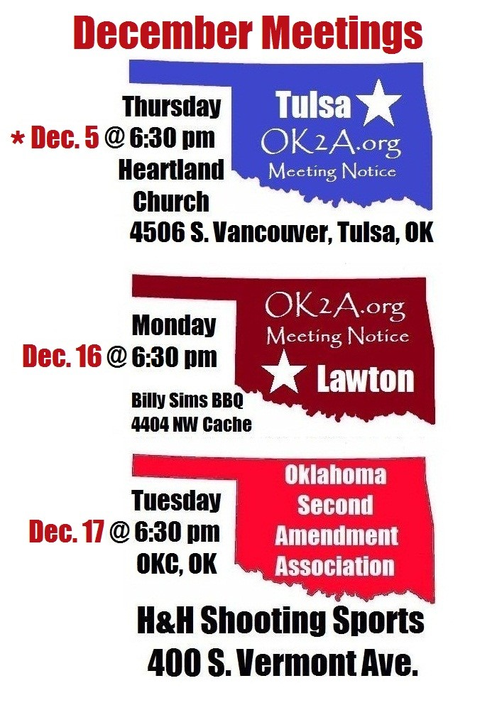 OK 2A December meeting times and places
